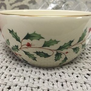 Lenox Christmas bowl